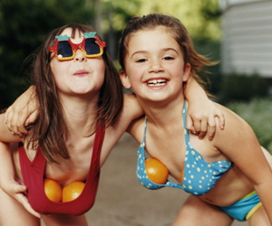 girl, friends, and funny image