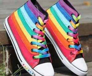 rainbow and shoe image