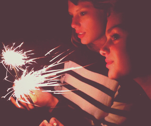 Taylor Swift, fireworks, and swiftie image