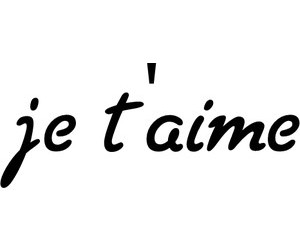 I Love You, je t'aime, and love image