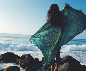 girl, summer, and beach image