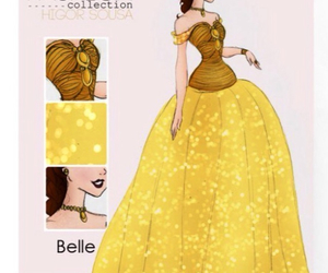 princess, belle, and fashion image