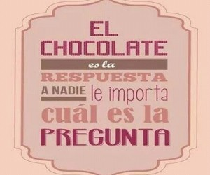 chocolate, frases, and espanol image