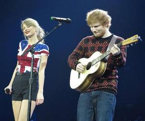 Taylor Swift, red tour, and ed sheeran image