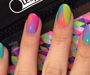 colourful, nails, and girly image