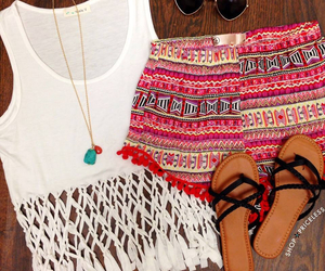 outfit, sandals, and summer outfit image