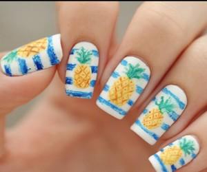 summer, blue, and nail art image