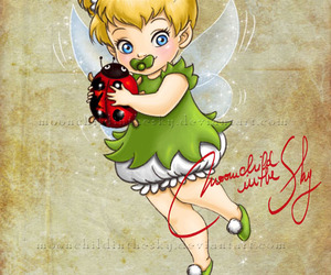 disney, baby, and tinkerbell image