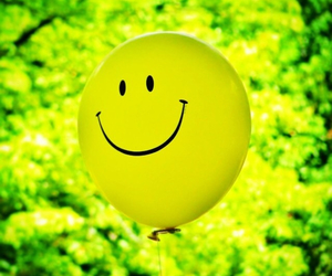 balloon, green, and happy image