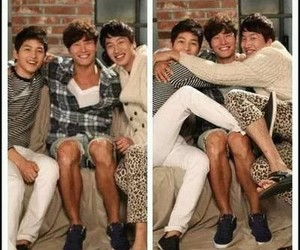 running man, song joong ki, and kim jong kook image