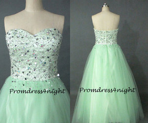 ball gown, quinceanera dress, and sage prom dress image