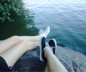best friends, converse, and grunge image