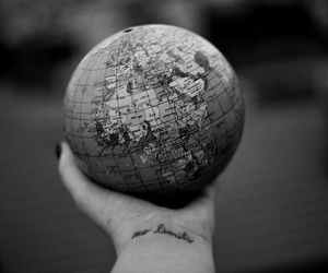 black and white, world, and no limits image