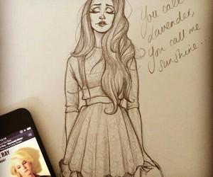 drawing, lana del rey, and song lyrics image