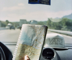 map, travel, and car image