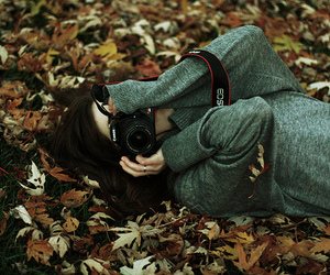 girl, photography, and autumn image