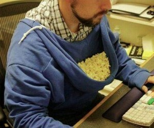 funny, popcorn, and lol image