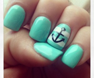 nails, anchor, and white image