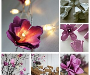 diy, flowers, and lights image