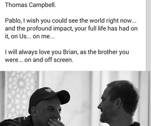 pablo, paul walker, and quote image