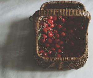 cherry, fruit, and basket image