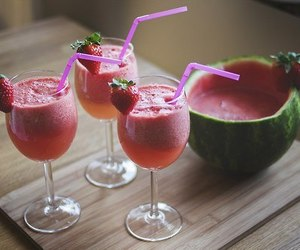 drink, watermelon, and fruit image