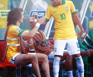 brazil, neymar, and david luiz image