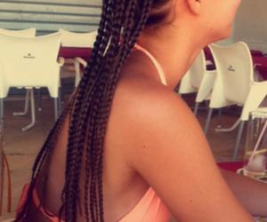 braids, summer, and brunette image