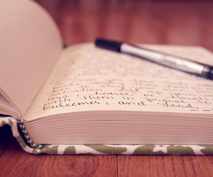 diary, book, and pen image