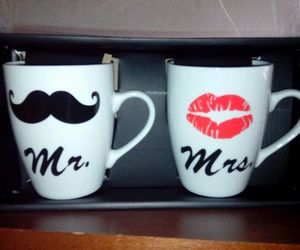 couple, mugs, and love image