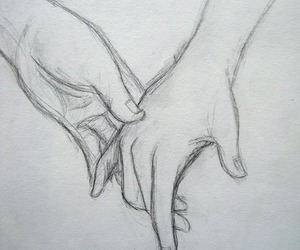 boy, girl, and hands image