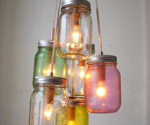 light, diy, and jar image