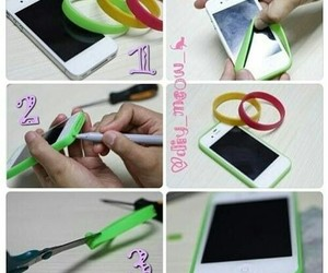 diy, elastic band, and phone case image