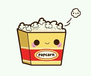 overlay, popcorn, and cute image