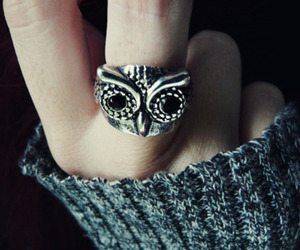 girl, owl, and ring image
