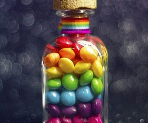 photography, rainbow, and skittles image