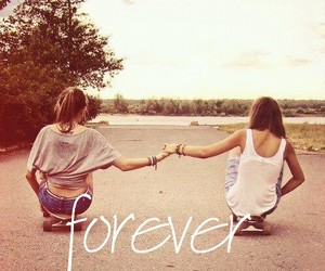 forever, girl, and best friends image
