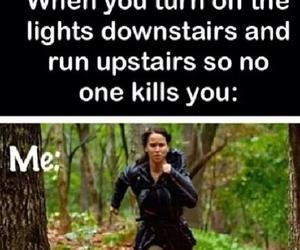 funny, hunger games, and run image