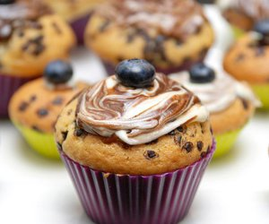 bake, muffin, and berry image
