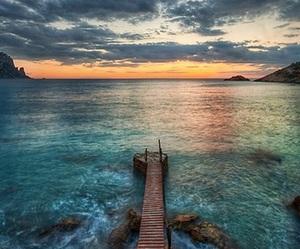 amazing, lake, and sunset image
