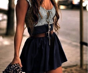 fashion, dress, and skirt image