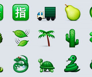 green, theme, and emoji image
