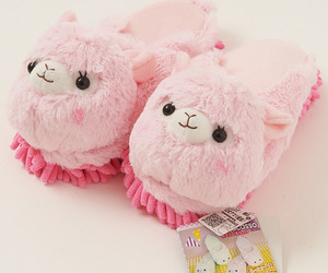 pink, slippers, and cute image