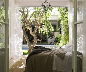 bedroom, home, and tree image