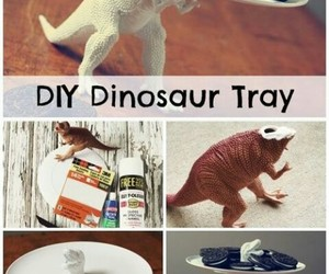 diy, dinosaur, and tray image