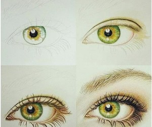 draw, eyes, and drawing image