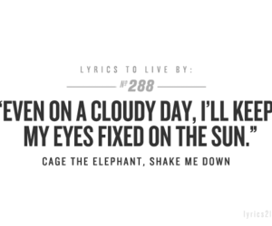 quote, cage the elephant, and Lyrics image