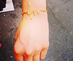 bracelet, hand, and ♥ image