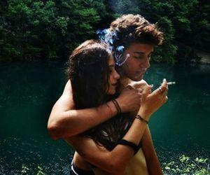 cigarrete, hippie, and lake image