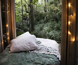 light, bed, and nature image